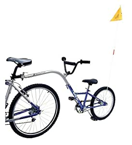 Barracuda Trail Buddy Single Speed Folding Tow Bike, Blue, 20 Inch