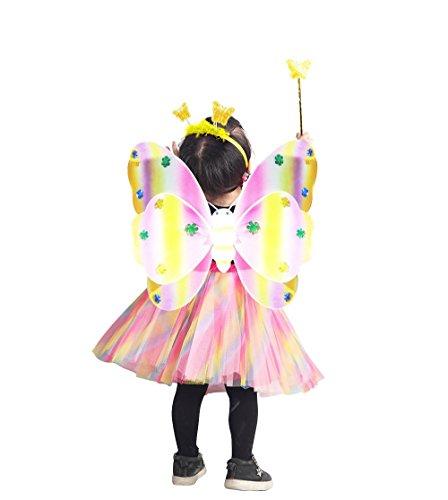 Seruna Ja06/00 Gr. 98-104 Flügel Kostüm für Fasching und Karneval, Kostüme für Kinder, Faschingskostüm, - Mickey Mouse Fantasia Kostüm