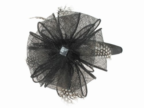 Glitz4Girlz Fascinator schwarz Jeweled Band (Jeweled Haarspangen)