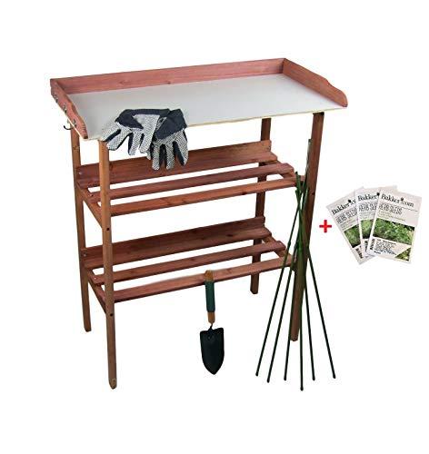 Maxx Garden - Table de jardinage 80 x 40 x 86 cm - Plaque de travail