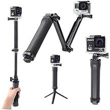 Theoutlettablet® Monopod 3-Way Palo Selfie Stick sumergible para camara deportiva sport cam DV SJCAM SJ4000 SJ5000 Xiaomi - gopro - Sport Cam - Excelvan - Elephone - Topjoy - Qumox - Topop - VicTsing - Pictek - Dbpower - Q5 - EX5000 etc etc..