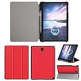 Y56 Flip Hülle Lederhülle Für Samsung Galaxy Tablet S4 10.5 Zoll 2018 Wake/Sleep Slim Case Cover Schutzhülle w/Stifthalter (Rot)