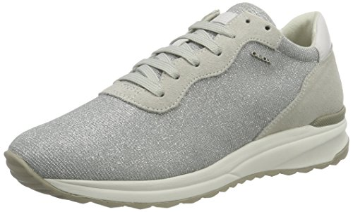 Geox D Airell B, Sneakers Basses Femme Gris (Lt Grey/Off Whitec0742)