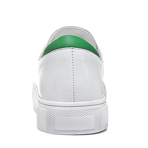 Damen Runde Zehen Flach Slip-on Halbschuhe Längeoberflach Schnürsenkel mit Dicke Boden Sneakers Grün