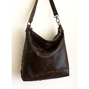 Tasche aus echtem Leder handgenäht, Frau Umhängetasche für jeden tag, Italienische handgefertigte taschen handgefertigt, limited edition BBagdesign