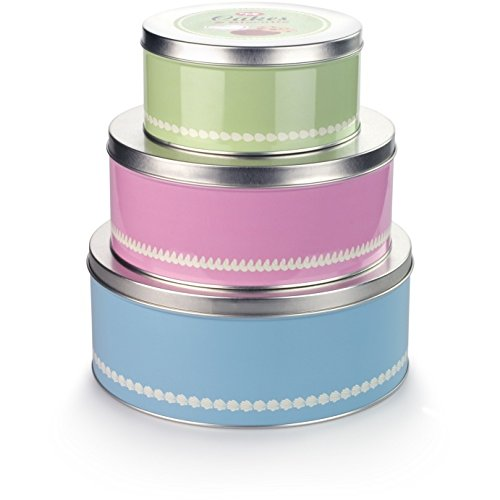 Tala Originals Set of 3 1960's Retro Cake Tins