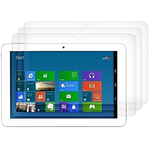3 packs x ELTD Prima Borrar protectores de pantalla para Odys Rise 10 Quad, HD Clear