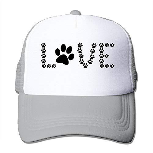 Sdltkhy Tierliebhaber Hund Pfotenabdruck Outdoor Mesh Hut Tennis Hut verstellbar schwarz New14