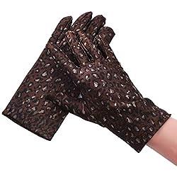 Huasho Guantes de Fiesta con Estampado Guantes de Mujer Guantes Elegantes con Dedos completos,CF