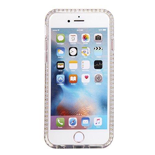 Ecoway Apple iPhone 6/6S(4.7 Zoll) IMD Case Cover, TPU Série de fleurs de porcelaine Shell autour du diamant Housse en Housse de protection Housse pour téléphone portable pour Apple iPhone 6/6S(4.7 Zo B3