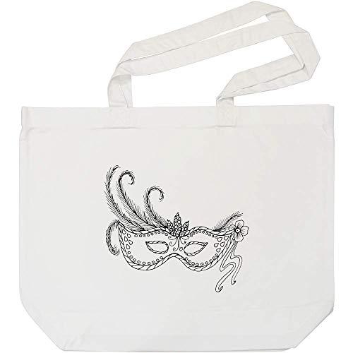 Azeeda 'Maskerade Maske' Weiße Einkaufstasche (BG00000998)