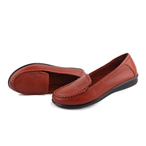 Frauen mittleren Alters Schuhe/Arbeitsschuhe/ weiche Unterseite Schuhe für älteren Frauen/Mutter mit flachen Schuhen/Schuhe für Damen B