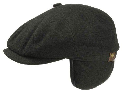 Stetson Casquette Gavroche Hatteras Earflaps Wool/Cashmere Homme - noir