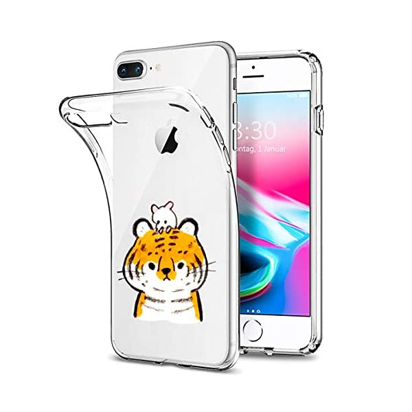 Oihxse Case Compatible with iPhone 5/5S/SE 4 inch Clear with Chic Design, Soft TPU Silicone Ultra Thin Slim Fit [Shockproof] [Anti-fingerprint] Crystal Transparent Case Cover Bumper Skin, Tiger Oihxse ✨【SLIM FIT】ONLY compatible with iPhone 5/5S/SE without bubbles, bubbles smudges, slippy and clinging, which provide a great hand feel & comfortable grip, easy put in and take off from pockets. ✨【CRYSTAL CLEAR】Cute and stylish pattern prints on the crystal transparent slim IPhone 5/5S/SE case, not only shows off the original beauty but adds more chic, fashion and elegant sense, makes you stand out from crowd and eye-catching. ✨【PREMIUM MATERIAL】Made from nontoxic and tasteless flexible TPU material, non fade and peel off. It can resist Iphone 5/5S/SE bumps, drops, scratches, impacts, shocks and fingerprint. 2