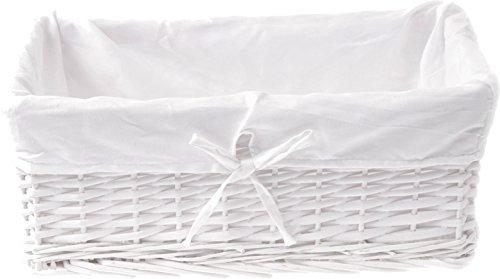 Zohula Weißer Korb Weidenkorb Mit Natur Baumwollfutter