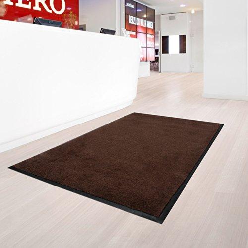 casa pura® Dirt Trapper Entrance Mat | Non Slip | 8 Sizes Available | Brown - 200x200cm