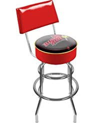 NCAA Illinois State University Padded Swivel Bar Stool with Back by Trademark Gameroom