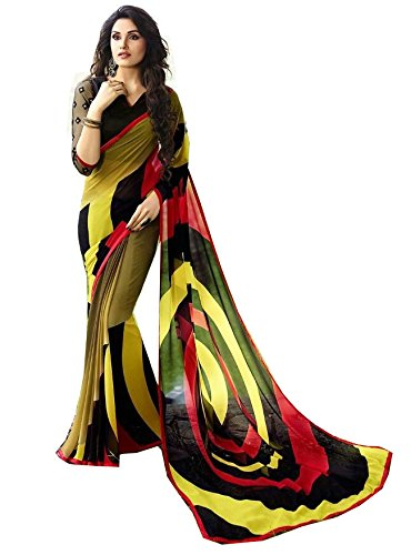 Mansi Tex - Women Crepe Chiffon Saree ( XX-6101 __Free Size)...[ Printed sarees with lovely print and Blouse Women's Clothing Latest Designe and workwear Ceremony Sari New Collection Multi Coloured Art silk Material Half Saree Lehenga Sadi for With Designer Blouse Free Size Beautiful Bollywood For Party Wear Offer georgette Cotton & Crush Velvet & Net Sadi Buy Online Today Offers Sale women cockta