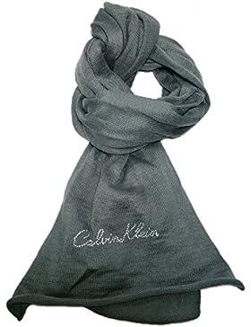Calvin Klein Damen Schal Grau grau Einheitsgröße