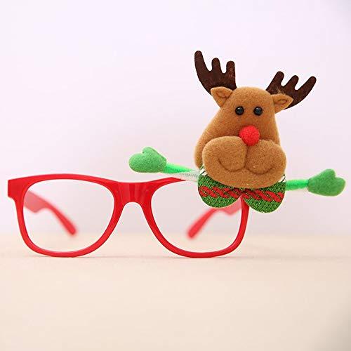 Ornamente Rahmen Gläser Universal-Brillen-Kostüm-Partei-Dekoration Grau Ornamente Feld-Gläser Weihnachtsmann-Glas-Brille-Kostüm-Party-Dekoration Glas-Rahmen für ()