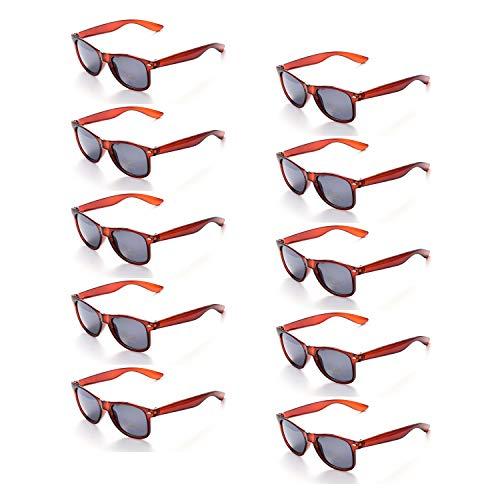 5e4ec6949cc8f3 ONNEA 10 Paare Party Favors Sonnenbrille Set Sommer Kinder Damen (Braun 10 -Pack)