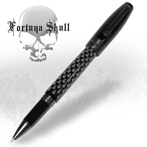 roller-montegrappa-fortuna-skull-ruthenium-edition-limitee-isfosrlc