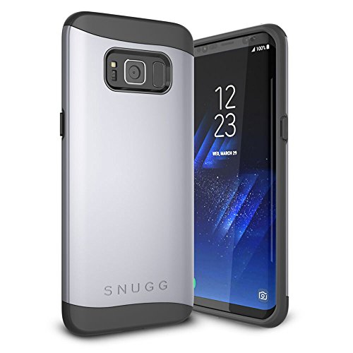 Funda Galaxy S8 Plus, Snugg Samsung Galaxy S8 Plus Case Slim Carcasa de Doble Capa [Infinity Series] Revestimiento con Protección Anti-Golpes - Space Grey