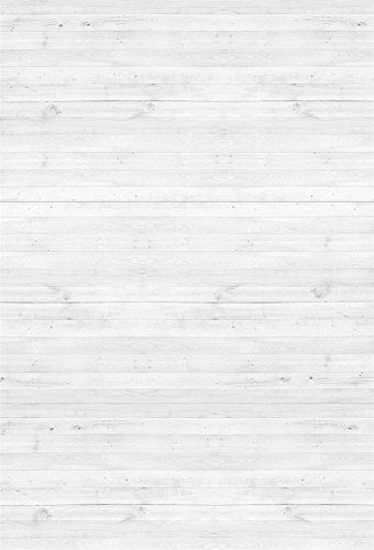 YongFoto 1,5x2,2m Vinyl Foto Hintergrund Holzboden Weißes Hölzernes Rustikales Hölzernes Holz Brett Fotografie Hintergrund für Photo Booth Baby Party Banner Kinder Fotostudio Requisiten