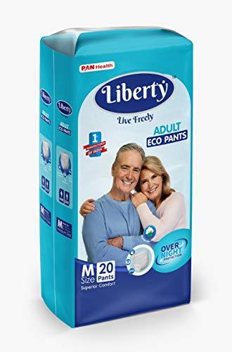 Liberty Eco Adult Diaper Pants, Medium 20's Pack (61-115 Cms   24-45Inches)