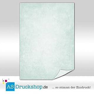 Marmorpapier - Imperial - Jade-grün / 25 Blatt/DIN A4 / 90 g-Offsetpapier