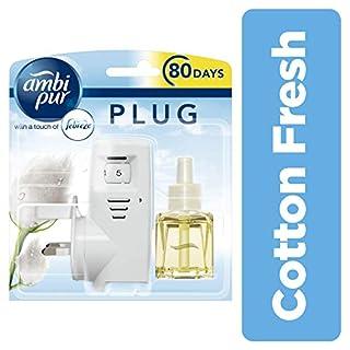 Ambi Pur 20 ml Cotton Fresh Air Freshener Plug-in Starter Kit - Pack of 5