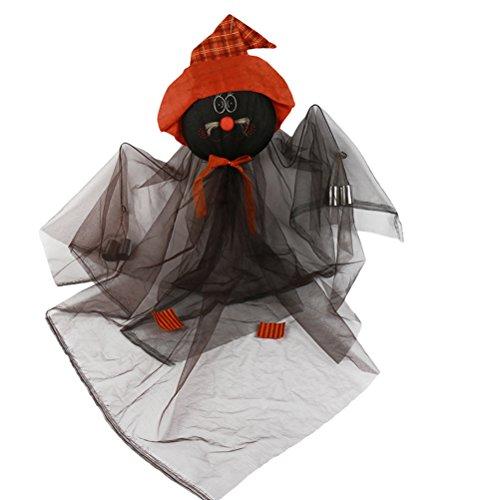 eängstigend hängende Hexe Puppe Halloween Hausgarten Hof Bar Dekorationen Partei liefert Spukhaus Requisiten (schwarz) ()