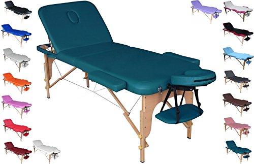 polironeshop Profi-Liege tragbar und faltbar für Massagen, Physiotherapie, Haarentfernung, Maniküre und Pediküre