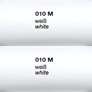 Rapid Teck® Matt Folie - 010 weiss - Klebefolie - 5m x 63cm - Folie Matt Plotterfolie - Klebefolie selbstklebend - auch als Moebelfolie - Dekofolientage