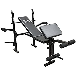 41Ki1y9RwaL. SS300  - DTX Fitness All-in-One Dumbbell/Barbell Weight Bench with Butterfly & Preacher Curl