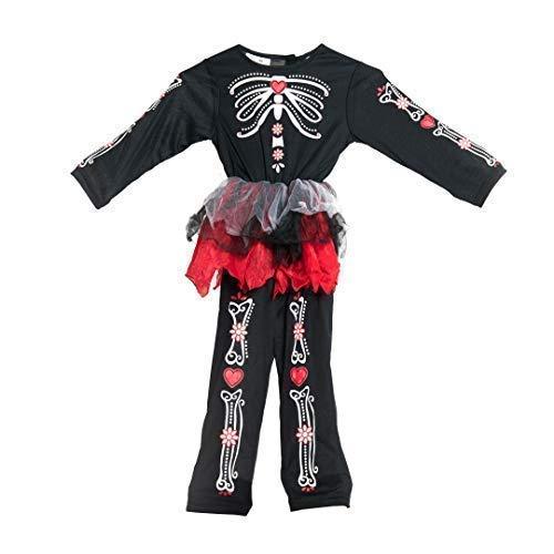 Bodysocks® Tag der Toten Kostüm für Mädchen (2-4 - Südamerika Kostüm Kinder