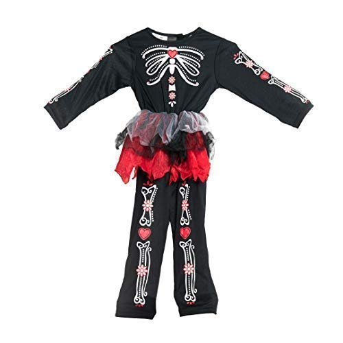 Kostüm Tag Mädchen Der Toten - Bodysocks® Tag der Toten Kostüm für Mädchen (2-4 Jahre)