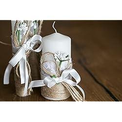 Velas decoracion boda - set de 3 unidades