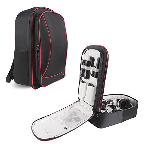 BUBM Kopfhörer Aufbewahrungstasche für PS4und VR, Reisen Gadget Organizer Rucksack für PS VR, PS4Game Konsole und Zubehör, Hohe Kapazität und alle in einem Ort, angenehm zu tragen PS4Pro Case, schwarz