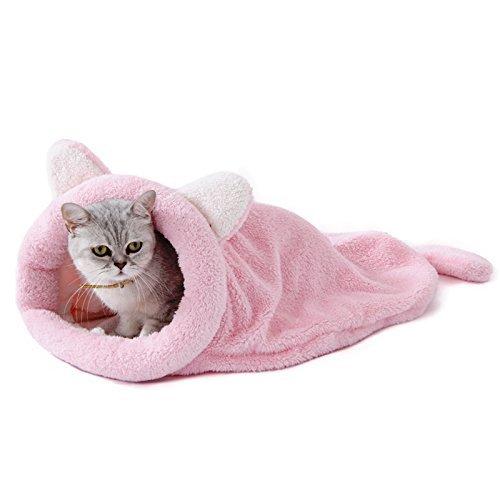 Pawz road gatto sacco a pelo vello morbido caldo lavabile letti di gatto sacco di coccole coperta stuoia per gattino cagnolino rosa