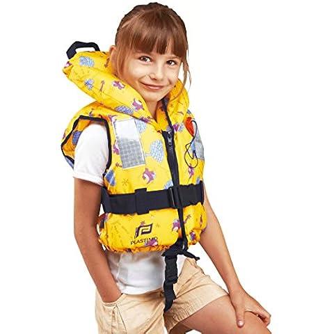PLASTIMO giubbotto di salvataggio Typhon per bambini, giallo con igloo 100N