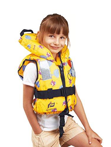 *PLASTIMO Kinder Rettungsweste Typhon gelb mit Iglus 100N, Größe:10-20 kg*