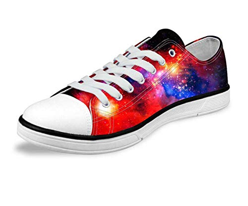 Galaxy Space Men Women Canvas Shoes Outdoor Casual Sneakers Training Shoes Flats Red-C0165AP 10 Cushe Cushe Slipper