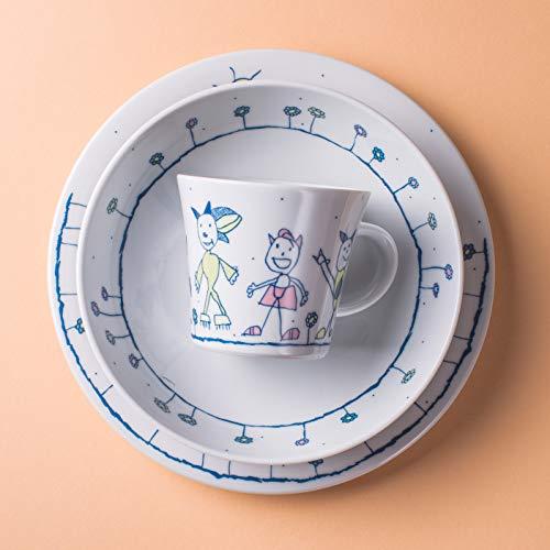 Kahla Kindergeschirr 3-teiliges Set Porzellan mit Motiv (Mond)