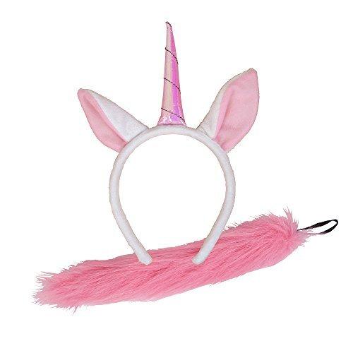 Einhorn Ohren & Schweife Zubehör für Tiere (Einhorn Kostüme Wicked)
