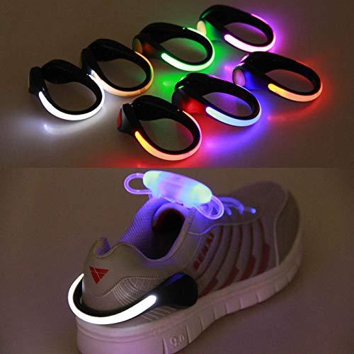 dolly Einzigartige Blitzschuh-Sicherheits-LED-Lichter für Läufer und Nachtlaufausrüstung - reflektierende Laufausrüstung zum Laufen, Joggen, Walken, Spinnen oder Radfahren -