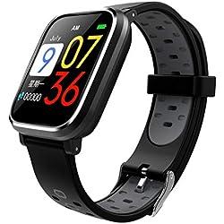 DIPOLA Pulsera de presión Arterial con Reloj Smart Sports Sports Fitness Tracker-Gris