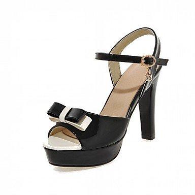 Sandales femmes Été Automne Chaussures Club Confort Chaussures similicuir PU Nouveauté Bureau extérieur & Carrière Partie & Robe de Soirée Casual Black