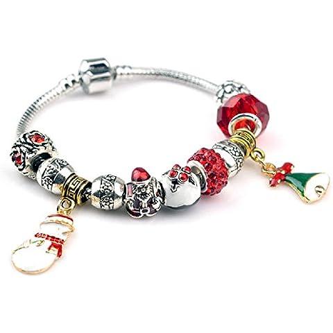 XJoel Catena d'argento del serpente braccialetto di fascino caldo stile dell'annata di modo europeo donne rosa braccialetto fai da te 7.87