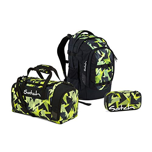 Satch Pack Gravity Jungle Schulrucksack Set 3tlg.